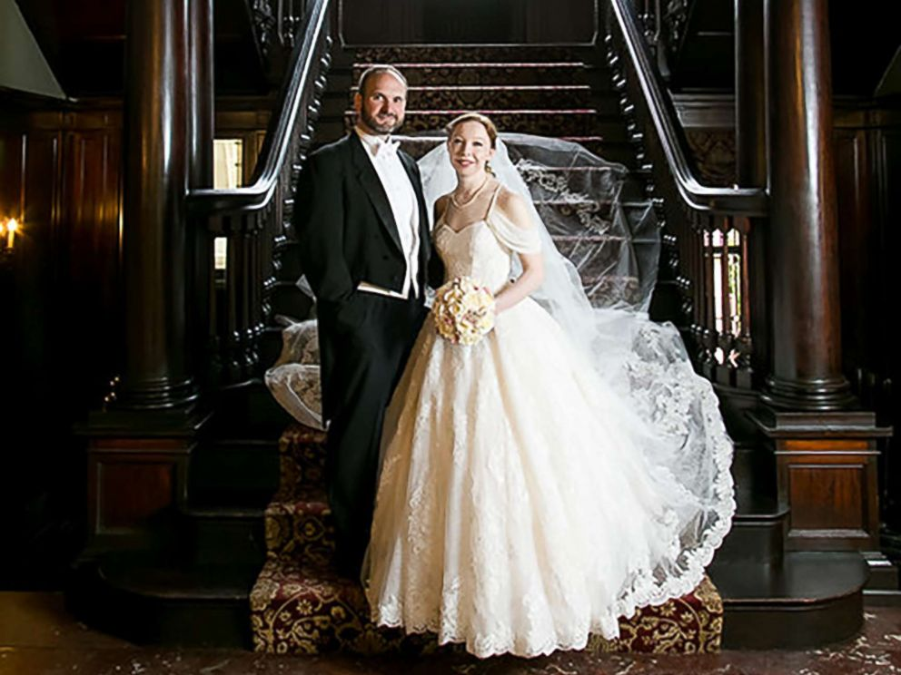 Bride wears four generations of wedding gowns see the photos for Trisha yearwood wedding dress