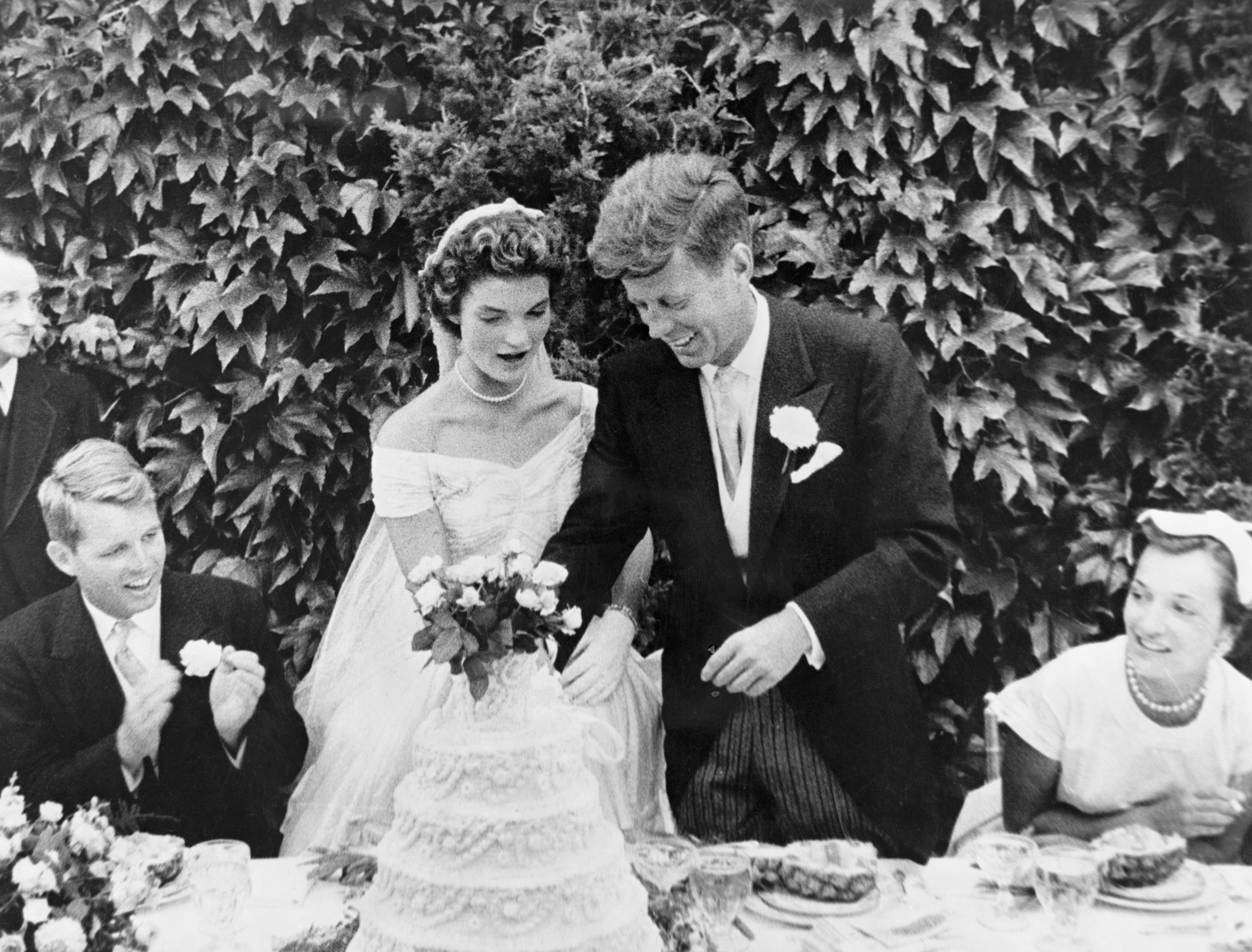 Jackie Kennedy and John F Kennedys Wedding Album Photos