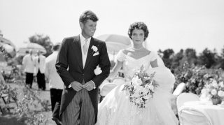 Jackie John F Kennedy Wedding 1953 Newport