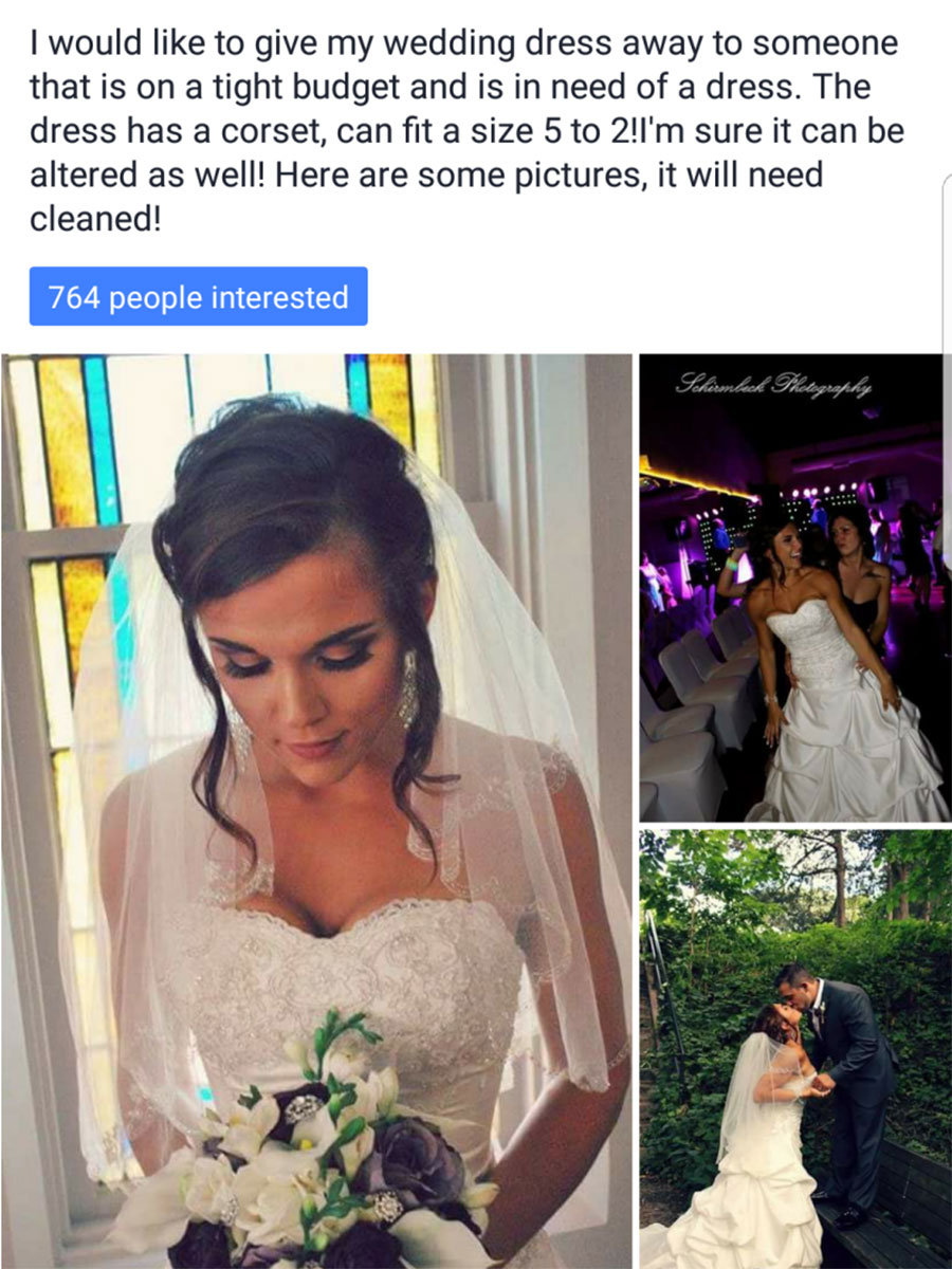 Generous Bride Shares Wedding Dress With 12 Other Brides
