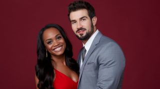 THE BACHELORETTE Rachel Lindsay and fiancée Brian Abasolo, Tuesday, August 8, 2017.  (ABC/ Heidi Gutman)   RACHEL LINDSAY, BRIAN ABASOLO