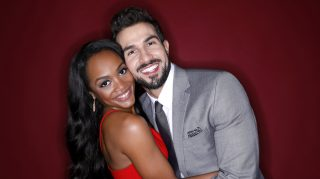 THE BACHELORETTE Rachel Lindsay and fiancé Brian Abasolo