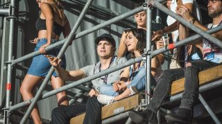 Ashton Kutcher Mila Kunis Concert date night