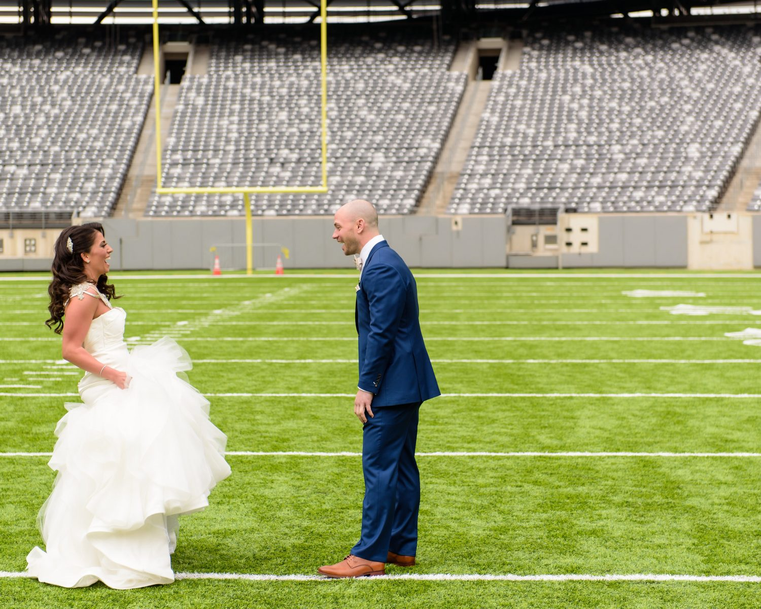 Casey Puleo And Ed Triggs Giants Wedding In MetLife Stadium Credit Susan Stripling Photography