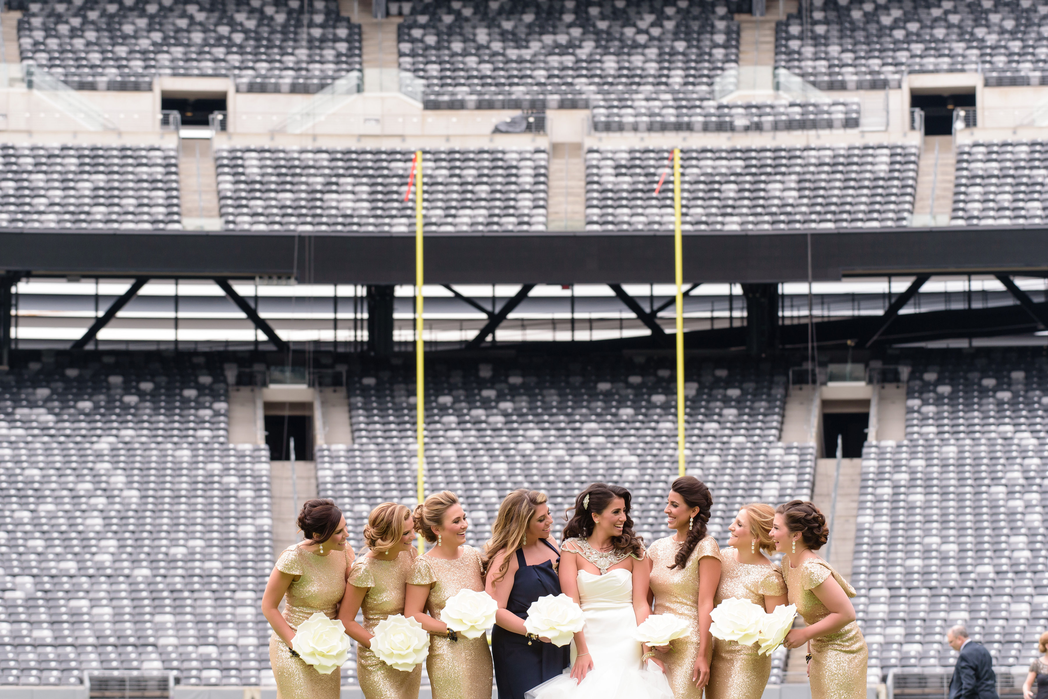 Casey Puleo and Ed Triggs' Giants wedding in MetLife Stadium. (Credit: Susan Stripling Photography)