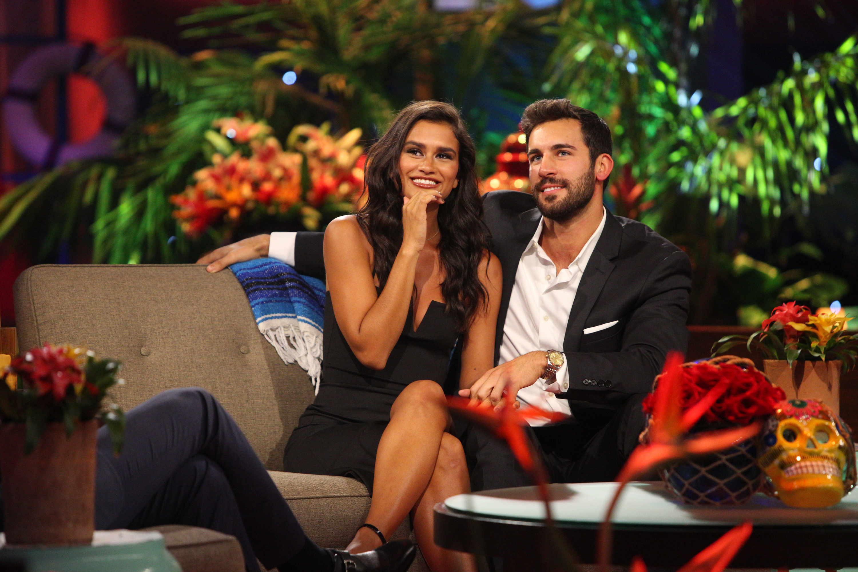 "BACHELOR IN PARADISE - ""Episode 405A"" - As the highly anticipated and explosive season finale of ""Bachelor in Paradise"" begins, airing MONDAY, SEPTEMBER 11 (8:00-10:01 p.m. EDT), on The ABC Television Network, the only thing our couples know is that this is their last day in Paradise... unless, as host Chris Harrison explains, they decide, after some tough conversations, that the potential for love in their relationship is real enough that they want one more date in Paradise. (ABC/Paul Hebert) TAYLOR NOLAN, DEREK PETH"