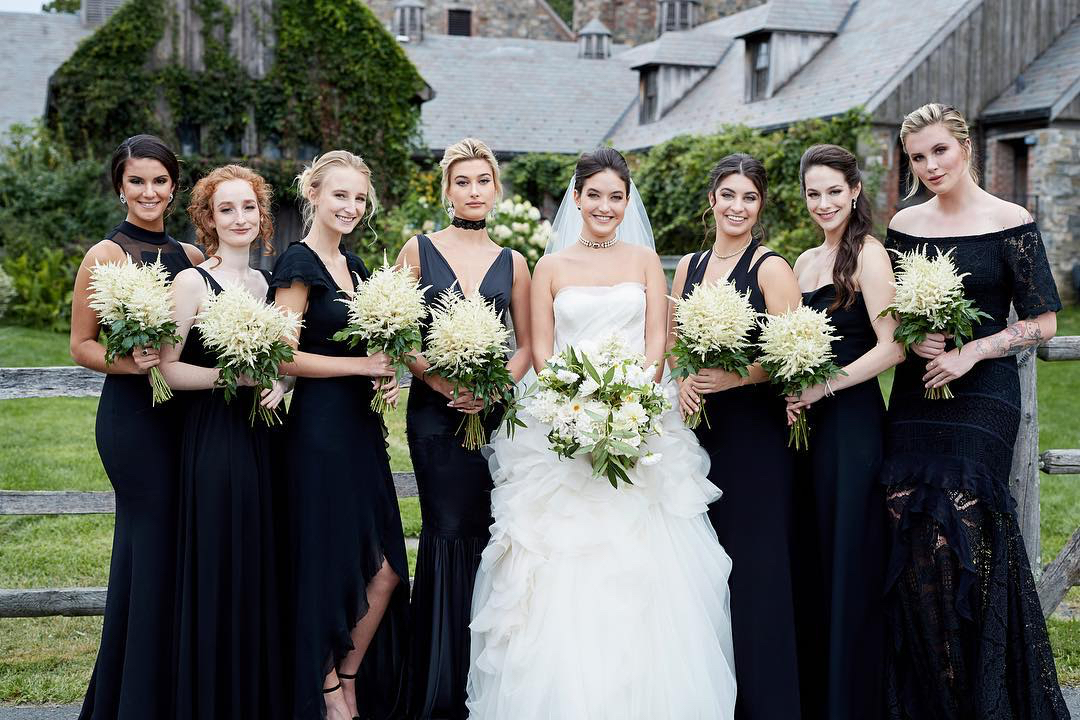 Hailey Ireland Baldwin bridesmaids wedding