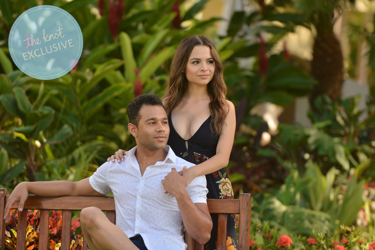 Corbin Bleu and Sasha Clements tell us all about their extended honeymoon, which they took a year after the wedding—get all the exclusive details straight from the couple. (Sandals Resort)