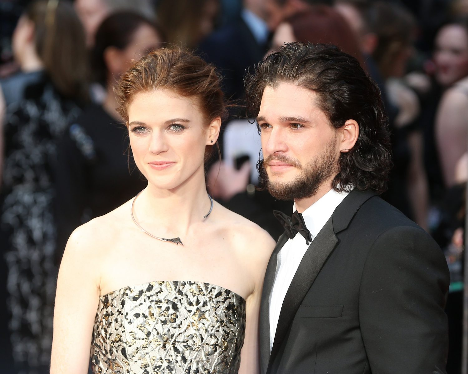 LONDON, ENGLAND - APRIL 03:  Rose Leslie and Kit Harington attend The Olivier Awards with Mastercard at The Royal Opera House on April 3, 2016 in London, England.  (Photo by Fred Duval/FilmMagic)
