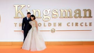 LONDON, ENGLAND - SEPTEMBER 18: Channing Tatum and Jenna Dewan Tatum attends the 'Kingsman: The Golden Circle' World Premiere held at Odeon Leicester Square on September 18, 2017 in London, England. (Photo by Mike Marsland/WireImage)