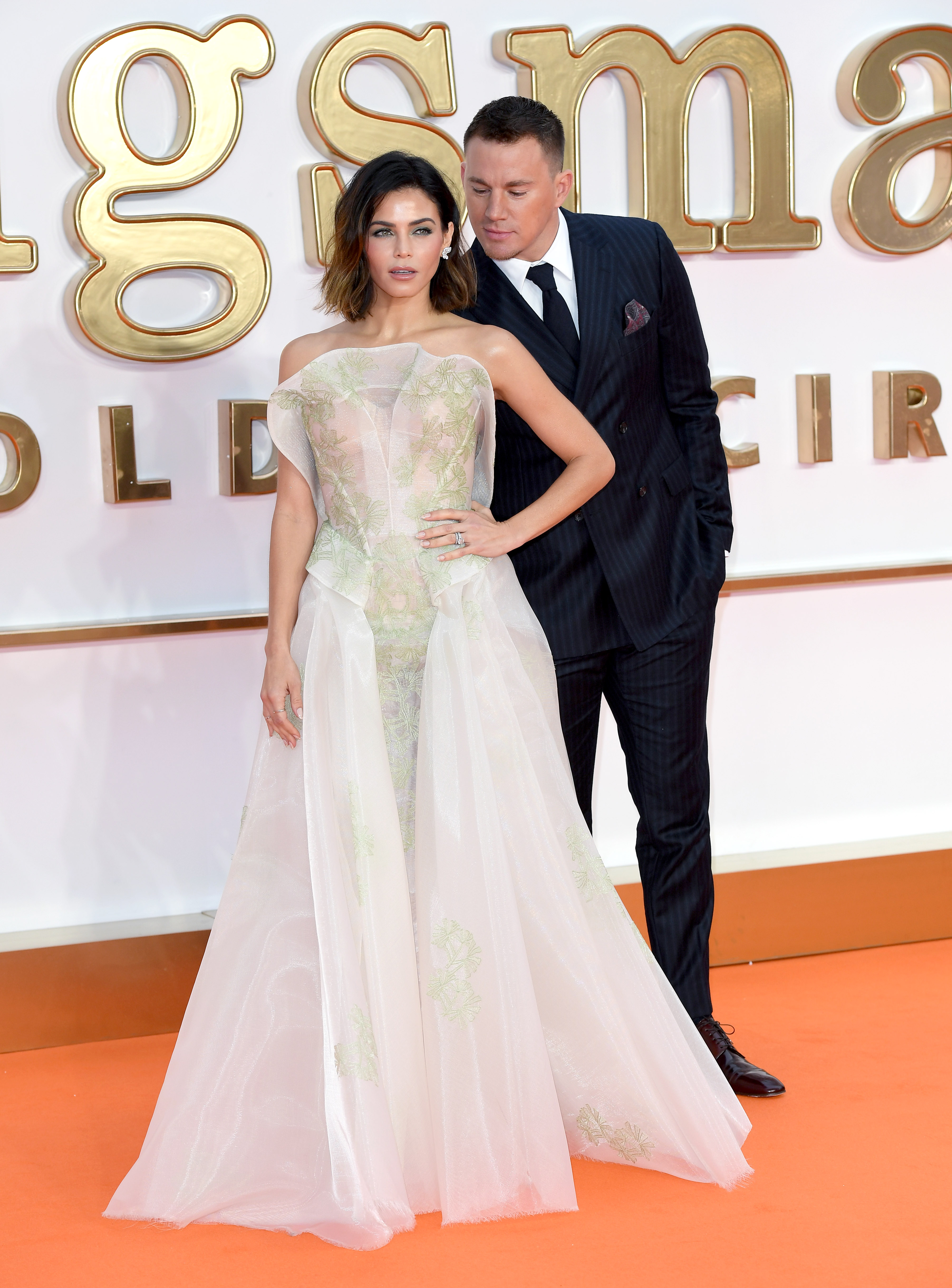 LONDON, ENGLAND - SEPTEMBER 18: Jenna Dewan Tatum and Channing Tatum attend the 'Kingsman: The Golden Circle' World Premiere at Odeon Leicester Square on September 18, 2017 in London, England. (Photo by Karwai Tang/WireImage)
