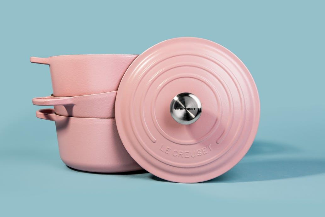 Le Creuset millennial pink dutch oven