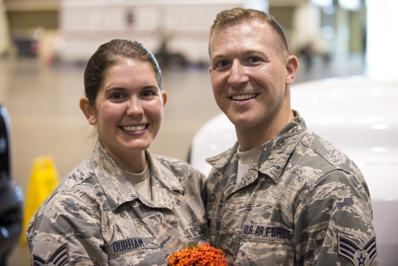 National Guard wedding hurricane irma