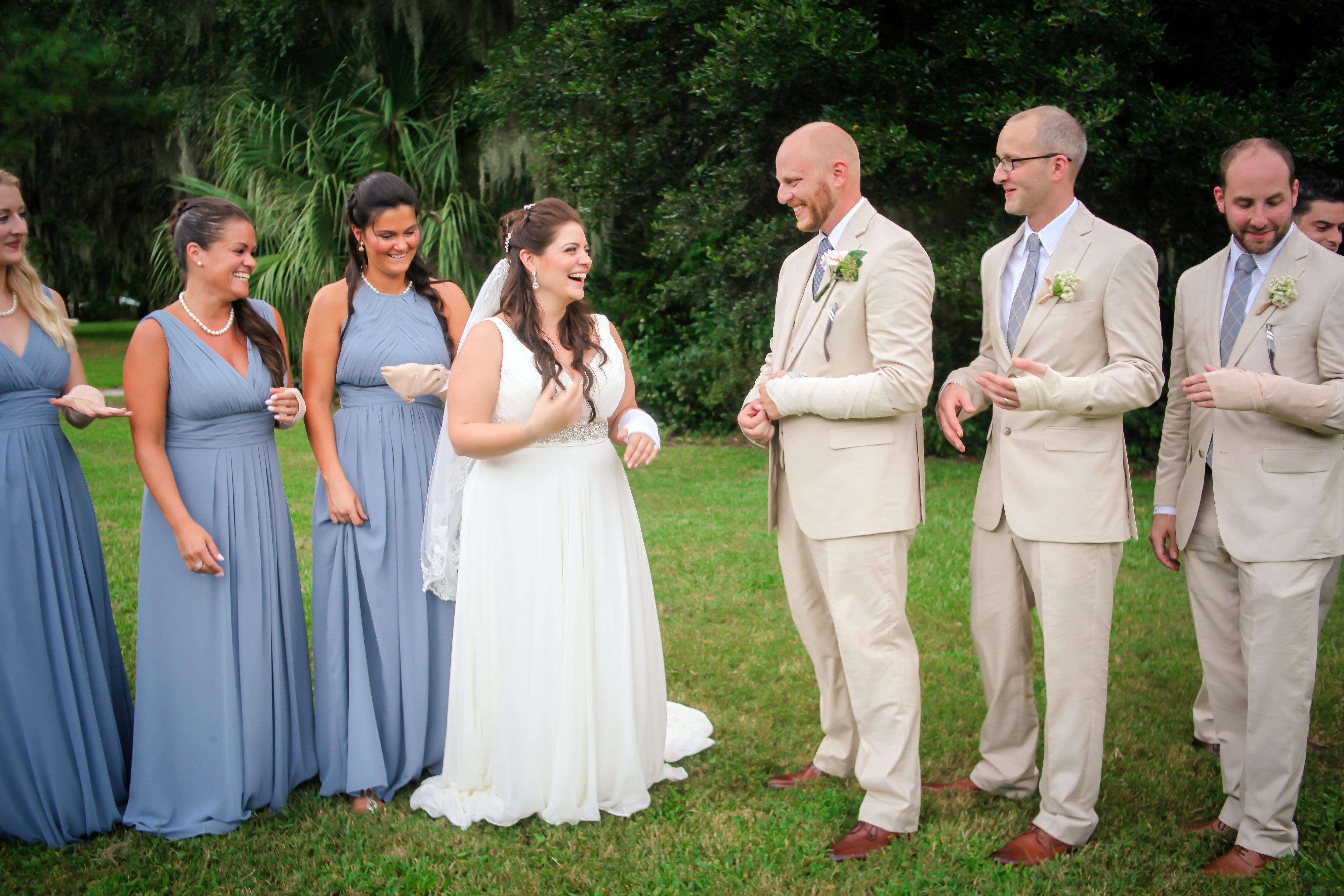 Bride cast wedding