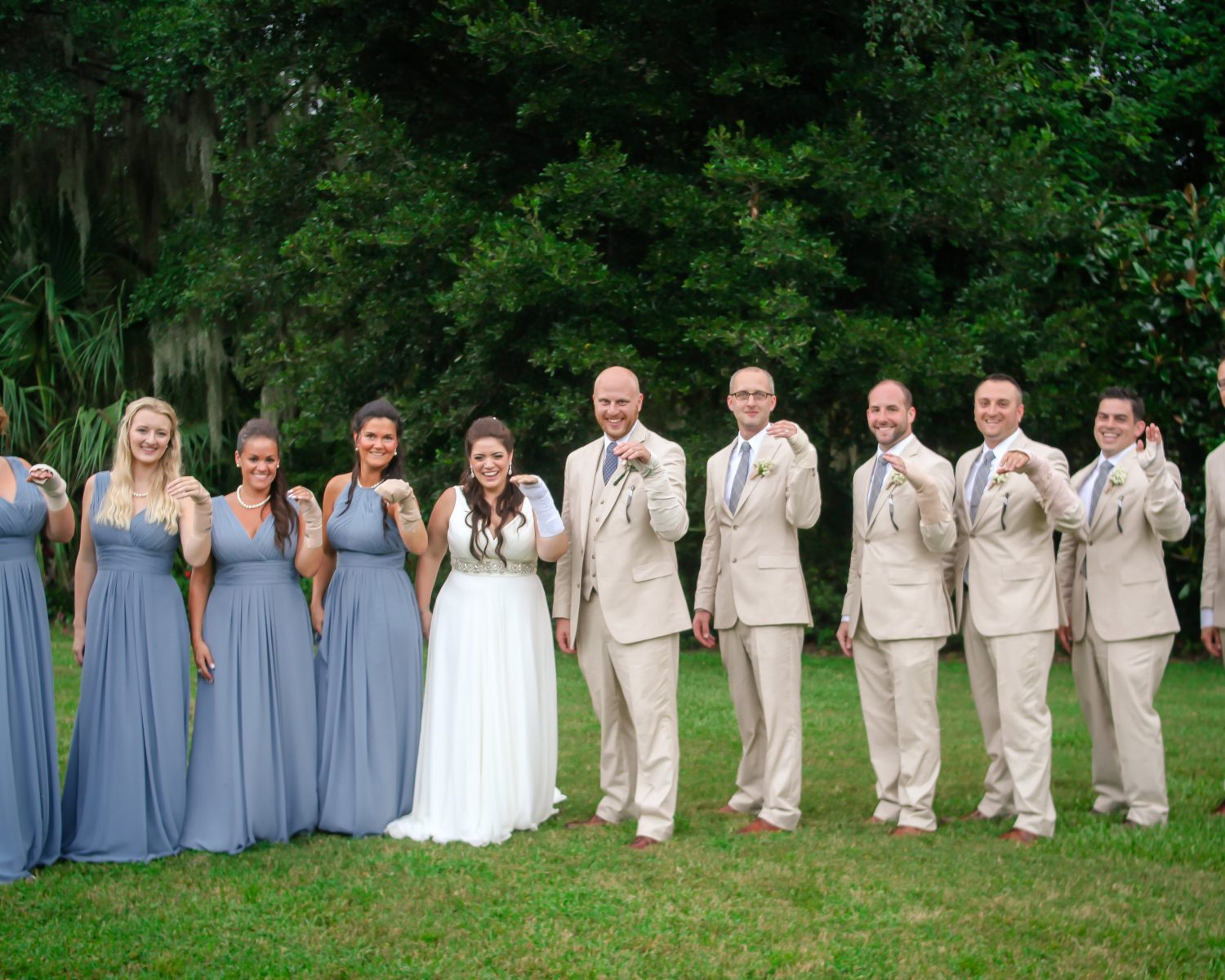 Bridal Party Poses In Bandages After Bride Breaks Wrist