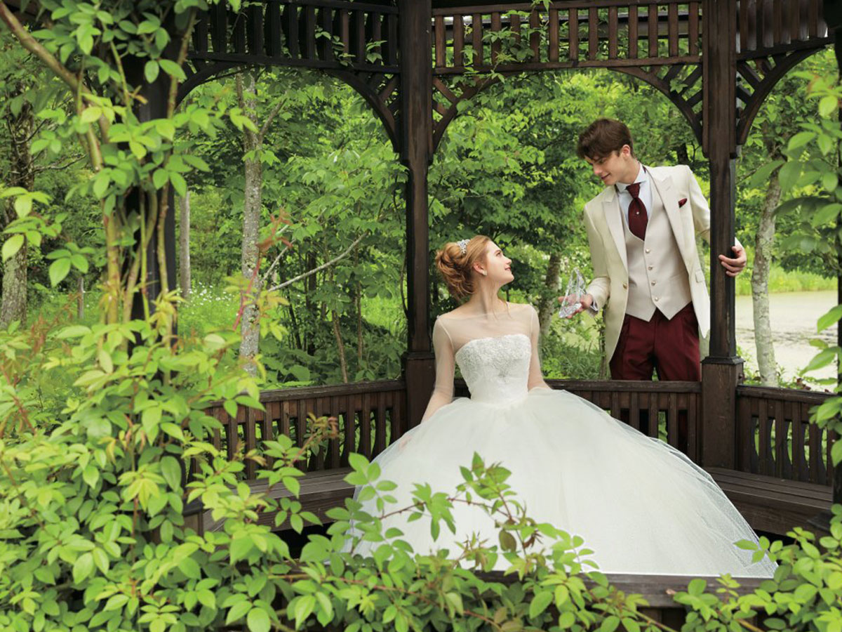 A Japanese wedding dress company is selling Disney-inspired wedding gowns starting in November. (Disney Japan/Kuraudia Co.)