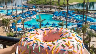 The JW Marriott Desert Springs Resort & Spa in Palm Desert, Calif., will make a 10-pound donut and wheel it straight to your room.