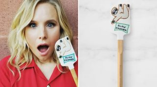 Kristen Bell collaborated with Williams Sonoma's No Kid Hungry Tools for Change program to design an adorable sloth spatula to add to your registry.