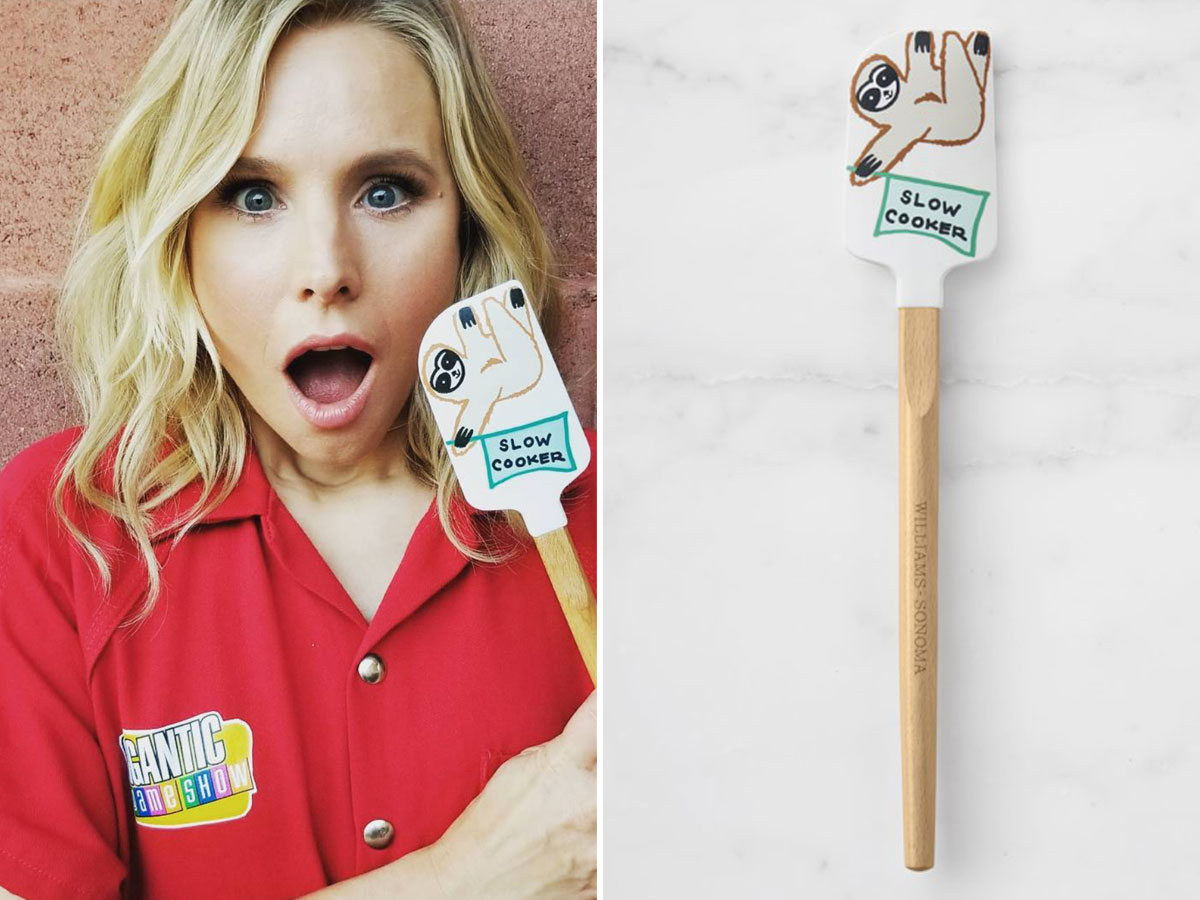 Kristen Bell S Sloth Spatula Is Perfect For Your Registry