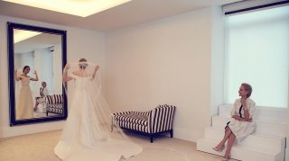 Emmy Rossum wedding dress