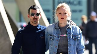 NEW YORK, NY - MAY 03:  Joe Jonas and Sophie Turner are seen walking in Soho  on May 3, 2017 in New York City.  (Photo by Raymond Hall/GC Images)