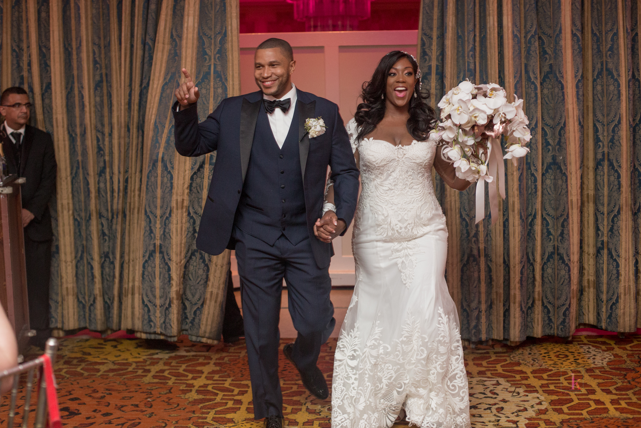 Dr. Marcus Bright and Dominique Sharpton's wedding. October 2017. (Credit: Kesha Lambert / Kesha Lambert Photography)