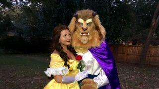 Beauty Beast halloween proposal