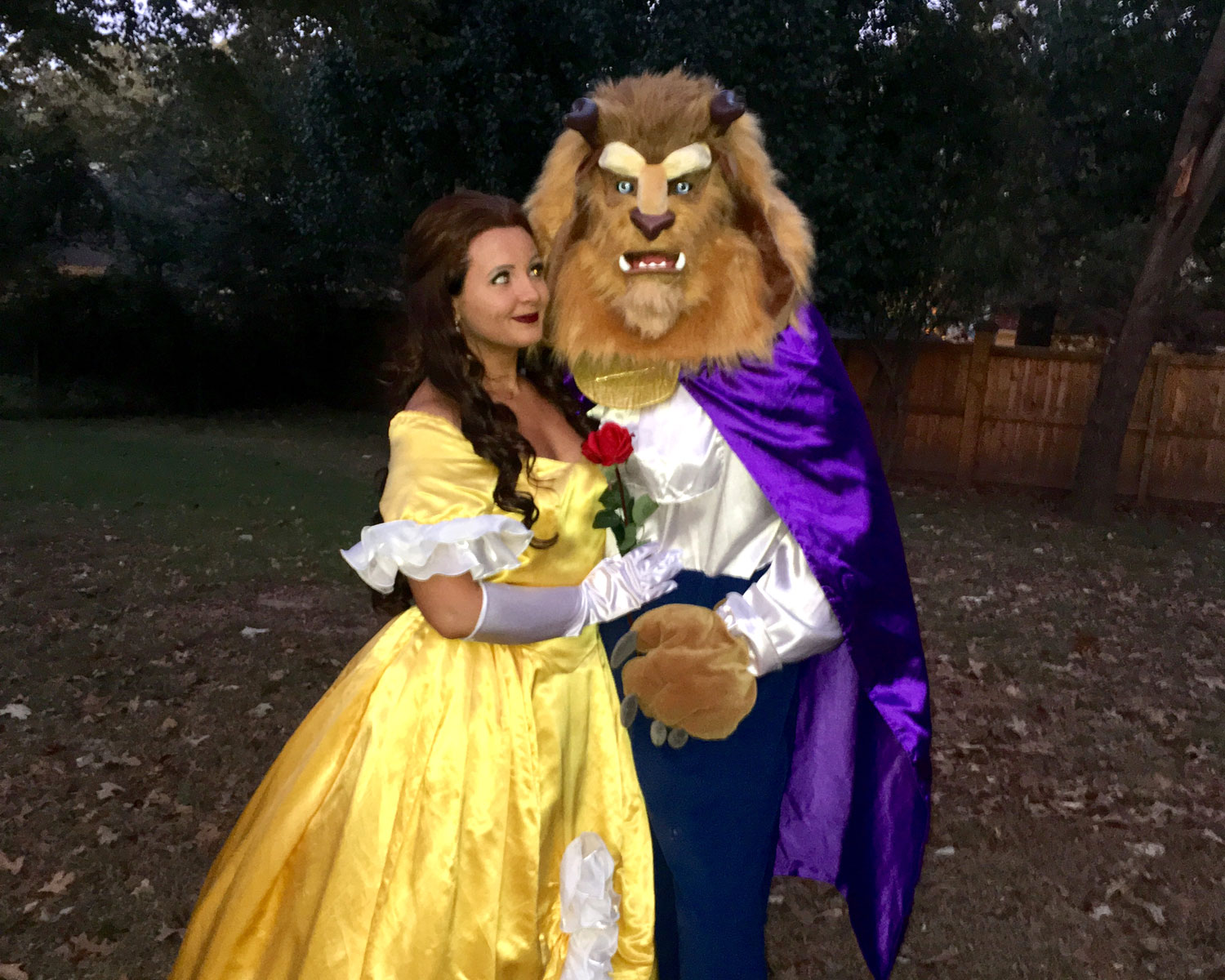 Beauty And The Beast Halloween Proposal Photos