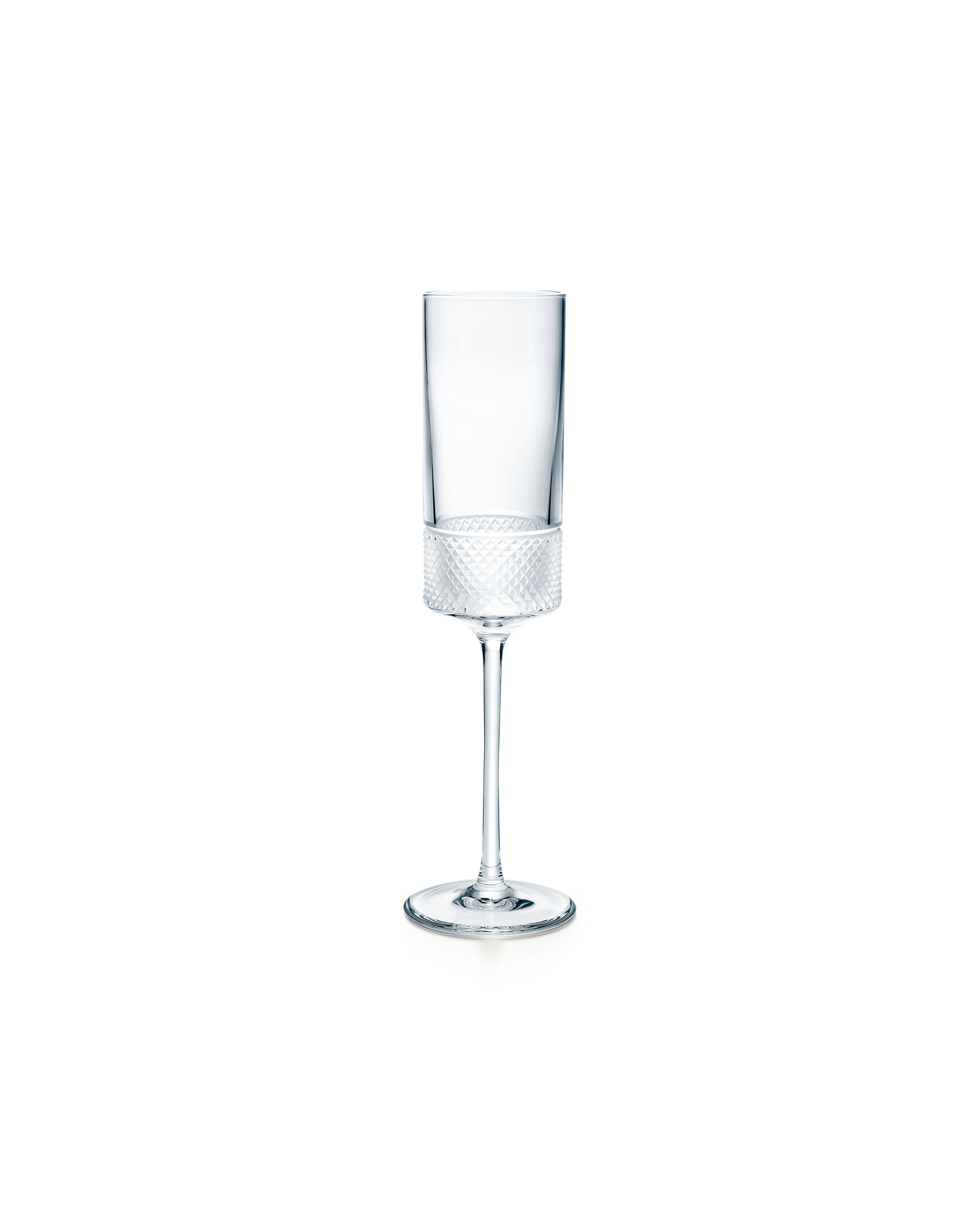 Tiffany & Co. Diamond Point champagne flute in crystal glass, $65.00. (Photo Credit: Tiffany & Co.)