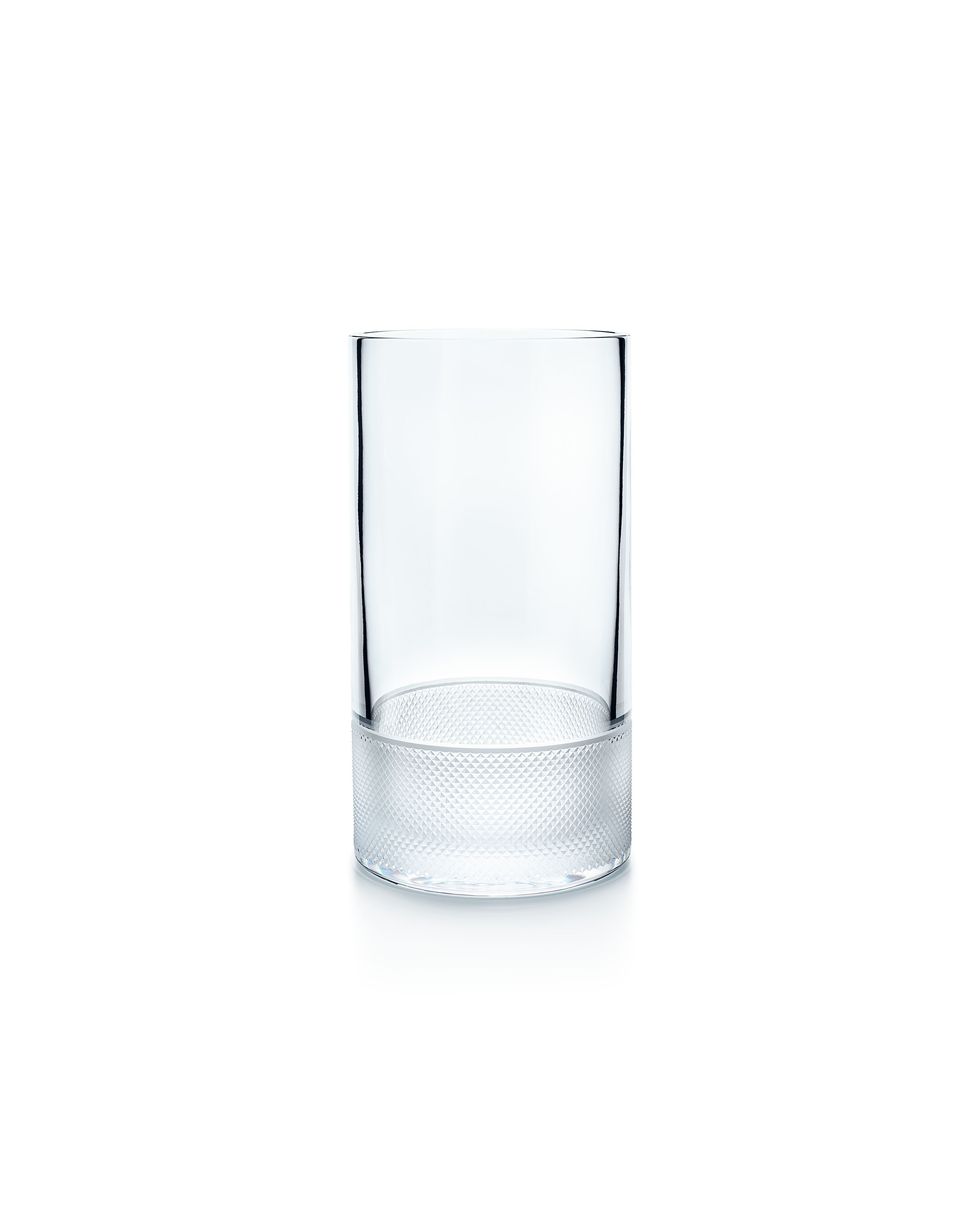 Tiffany & Co. Diamond Point hurricane in lead crystal, large, $350.00. (Photo Credit: Tiffany & Co.)