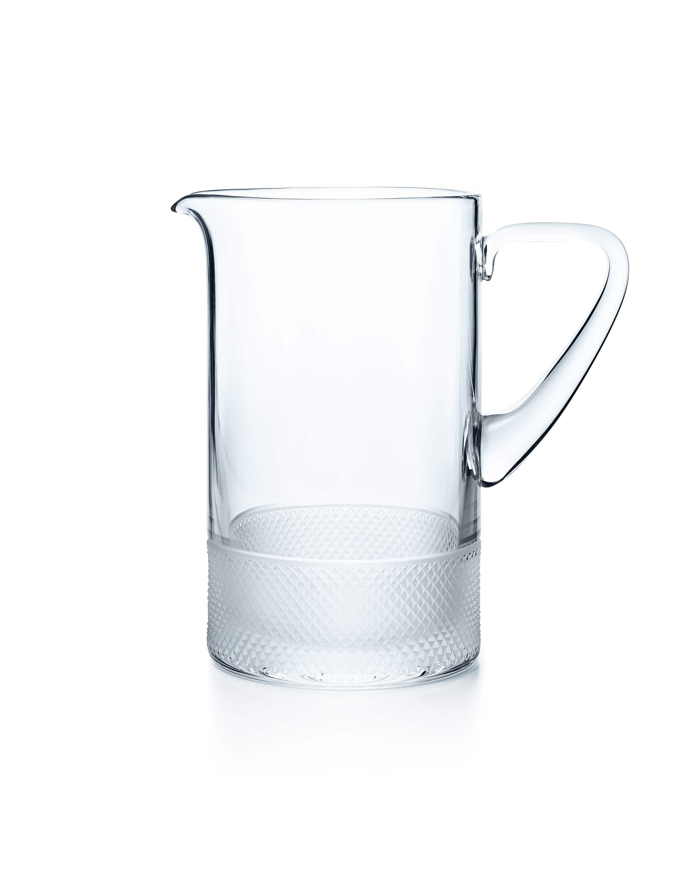 Tiffany & Co. Diamond Point pitcher in lead crystal, $250.00. (Photo Credit: Tiffany & Co.)