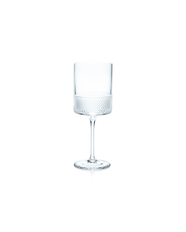 Tiffany & Co. Diamond Point wine glass in crystal glass, $65.00. (Photo Credit: Tiffany & Co.)