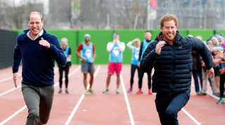 Prince Harry William racing engagement