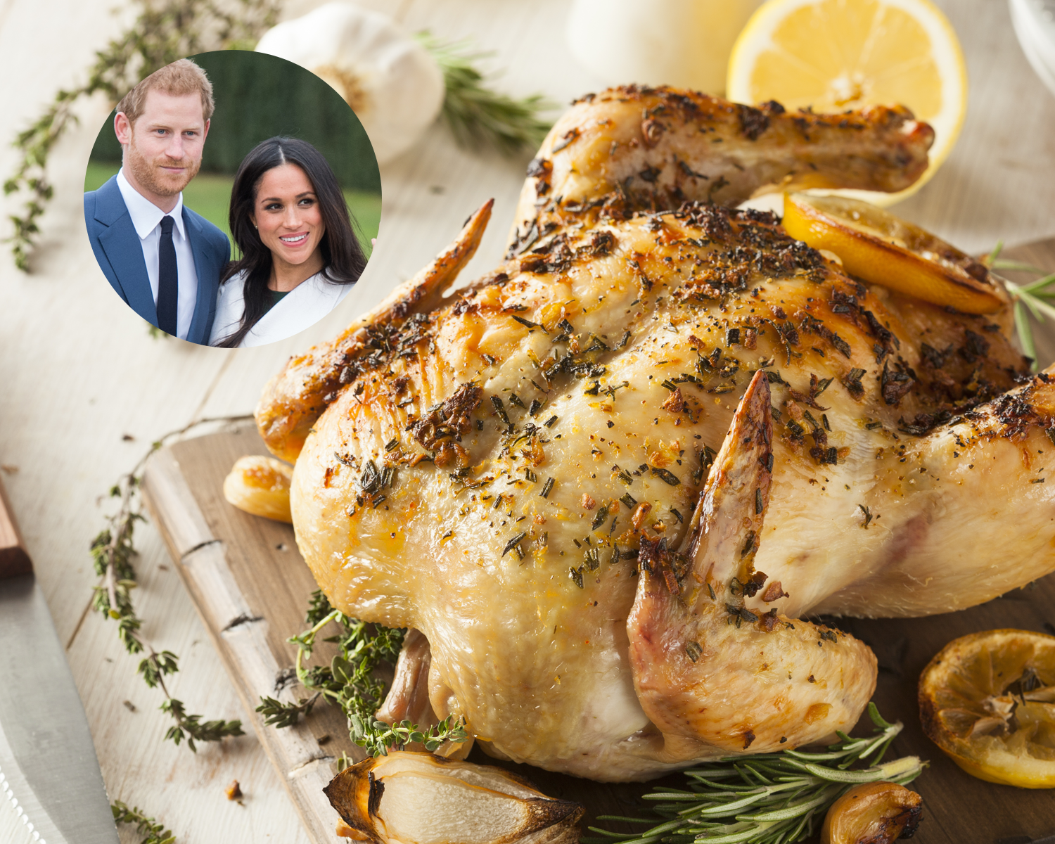 Roast chicken prince harry meghan markle