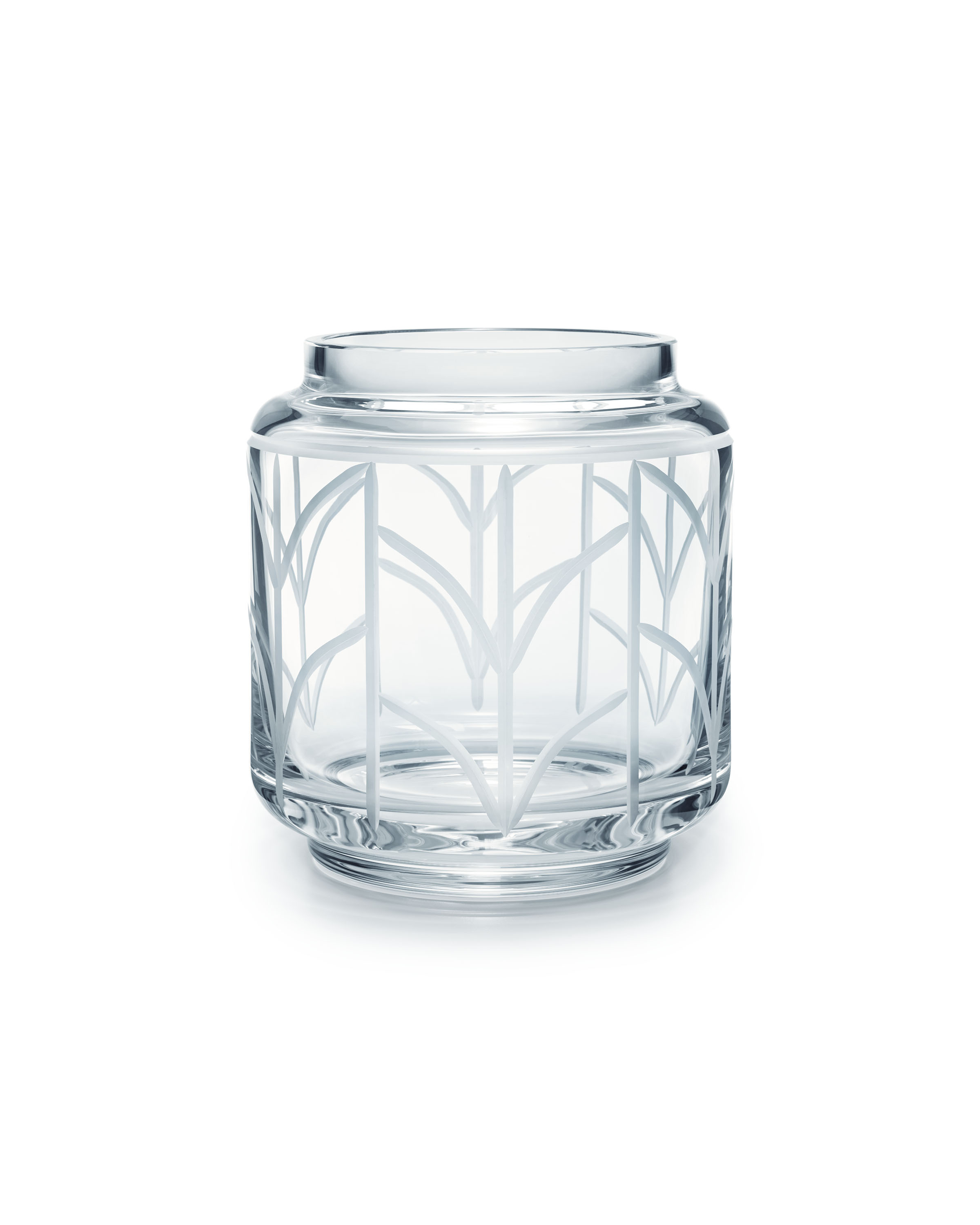 Tiffany & Co. Wheat Leaf baluster vase in crystal glass, small, $175.00. (Photo Credit: Tiffany & Co.)
