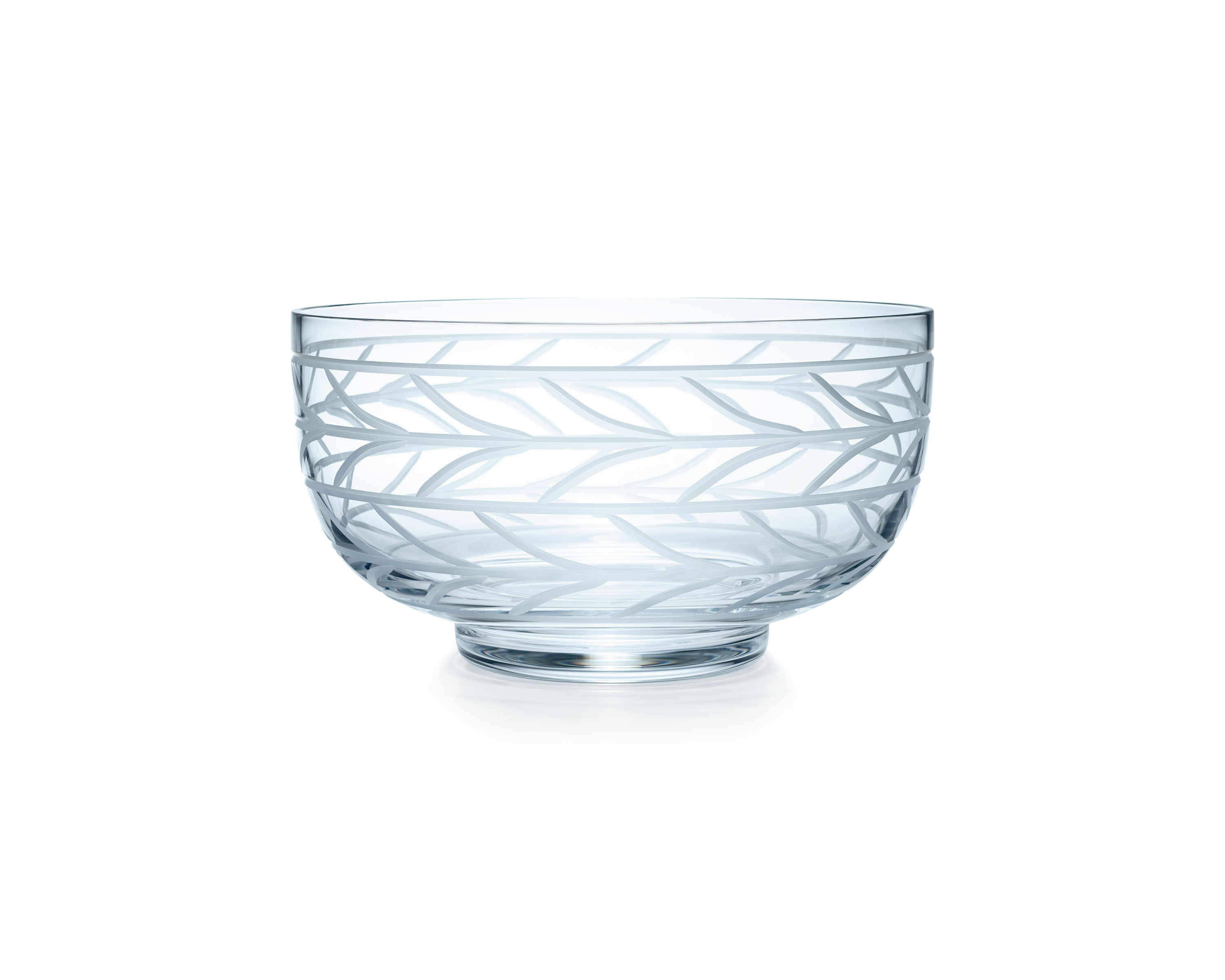 Tiffany & Co. Wheat Leaf bowl in crystal glass, large, $180.00. (Photo Credit: Tiffany & Co.)