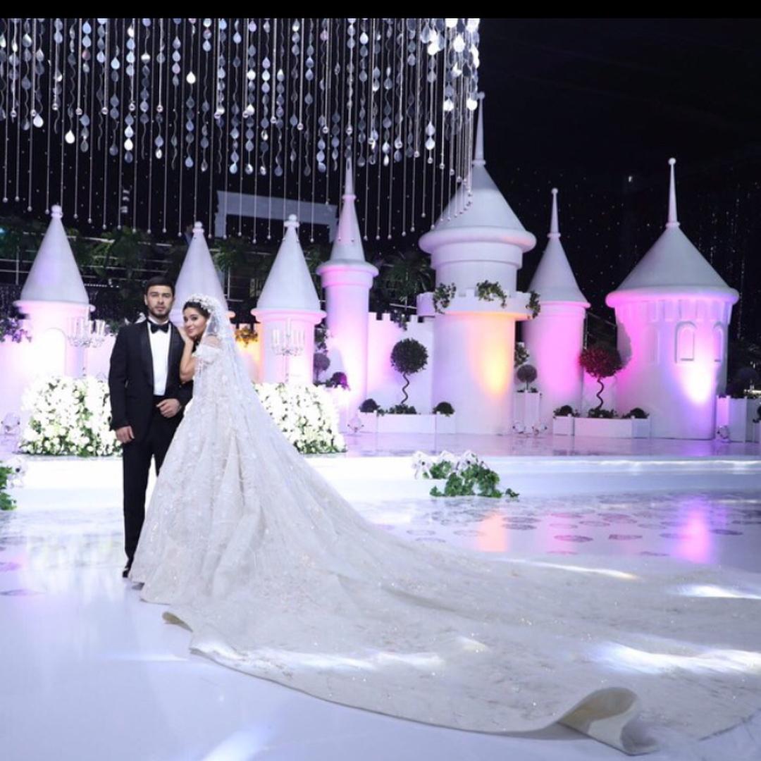 Ganya Usmanova and Vazha Uzakov wedding