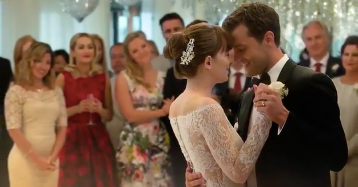 Fifty Shades Christian And Anastasia Share First Dance In