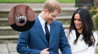 Kate Middleton Meghan Markle Prince Harry wedding band ring gold