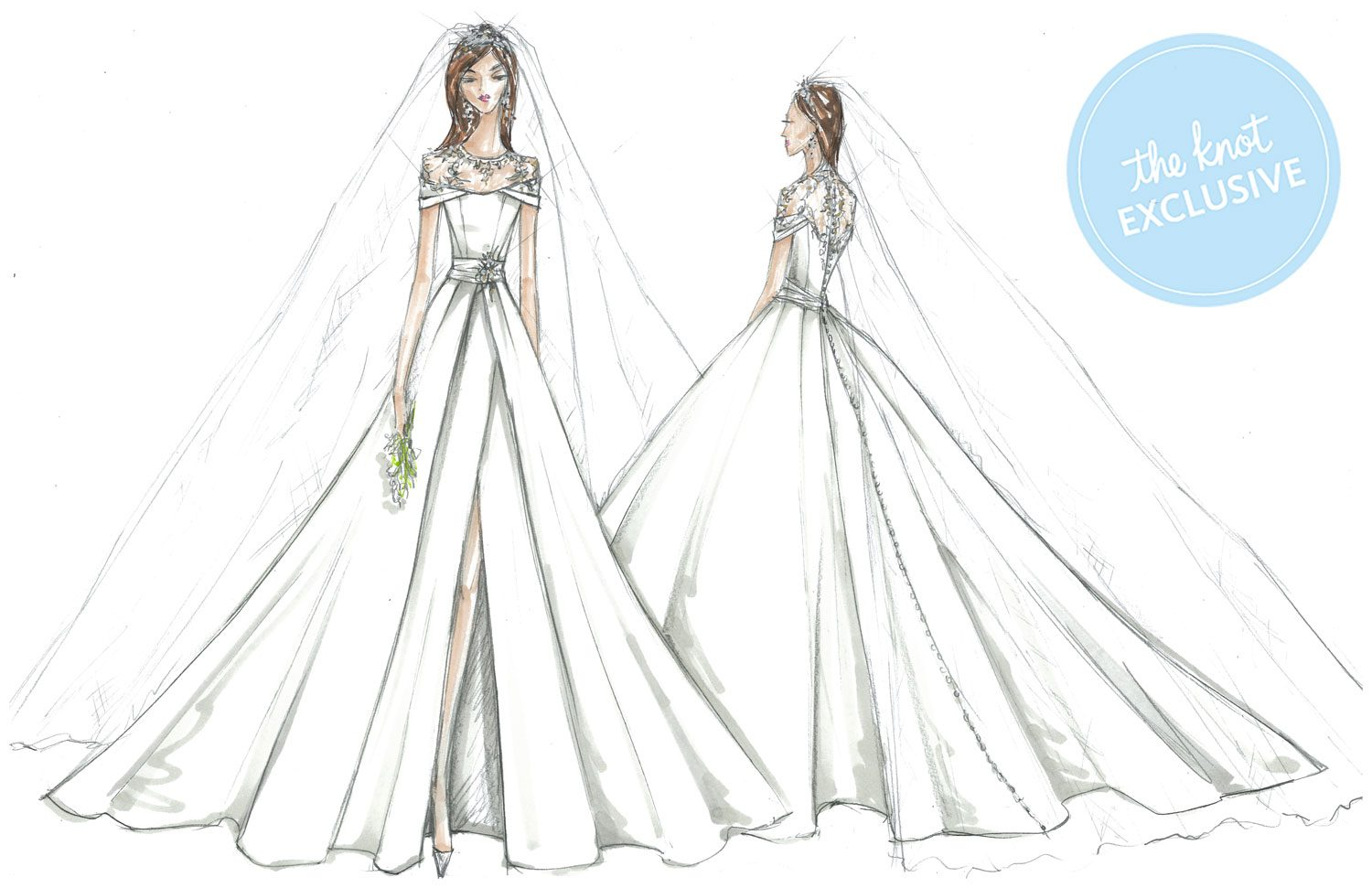 2caedcc239 David s Bridal Designers Imagine Meghan Markle s Wedding Dress  See the  Sketches