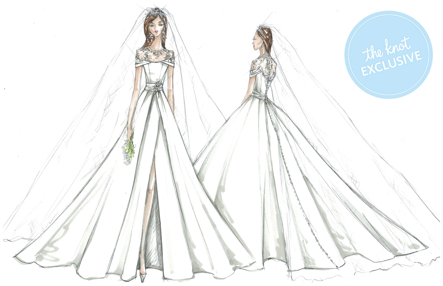 Meghan Markle S Wedding Dresses Imagined By David S Bridal