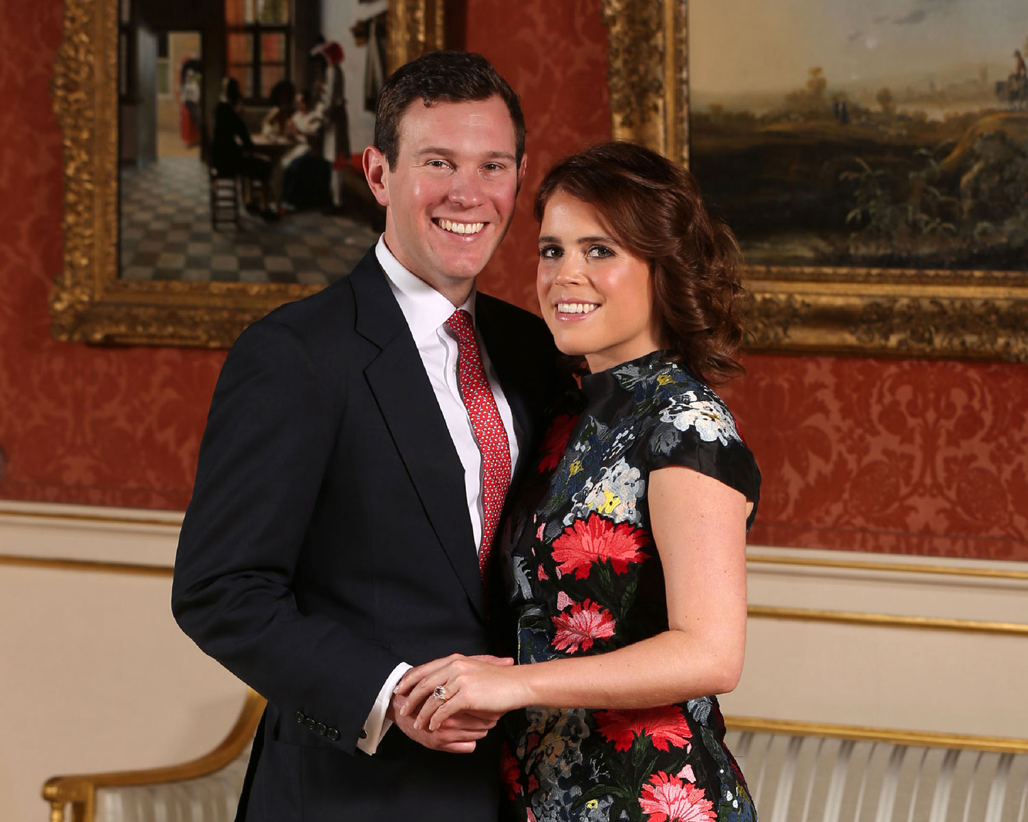 Padparadscha Sapphire Engagement Ring Princess Eugenie Engaged To Jack Brooksbank See The