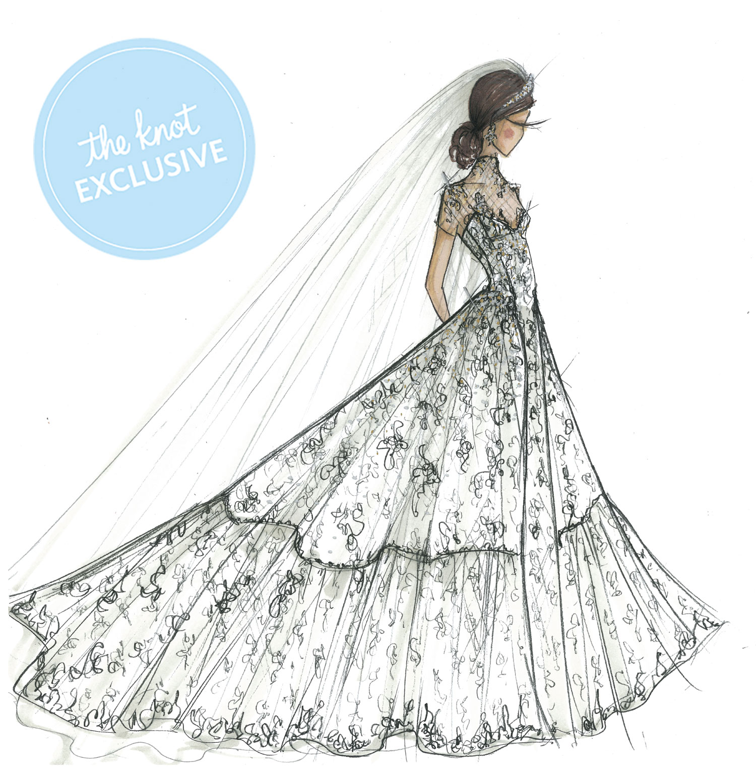 Sketch Courtesy David S Bridal