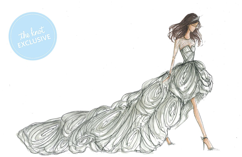 Wedding Dress Sketch Gift: White-by-Vera-Wang-1500