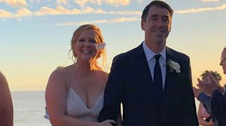 Amy Schumer Chris Fischer wedding photos