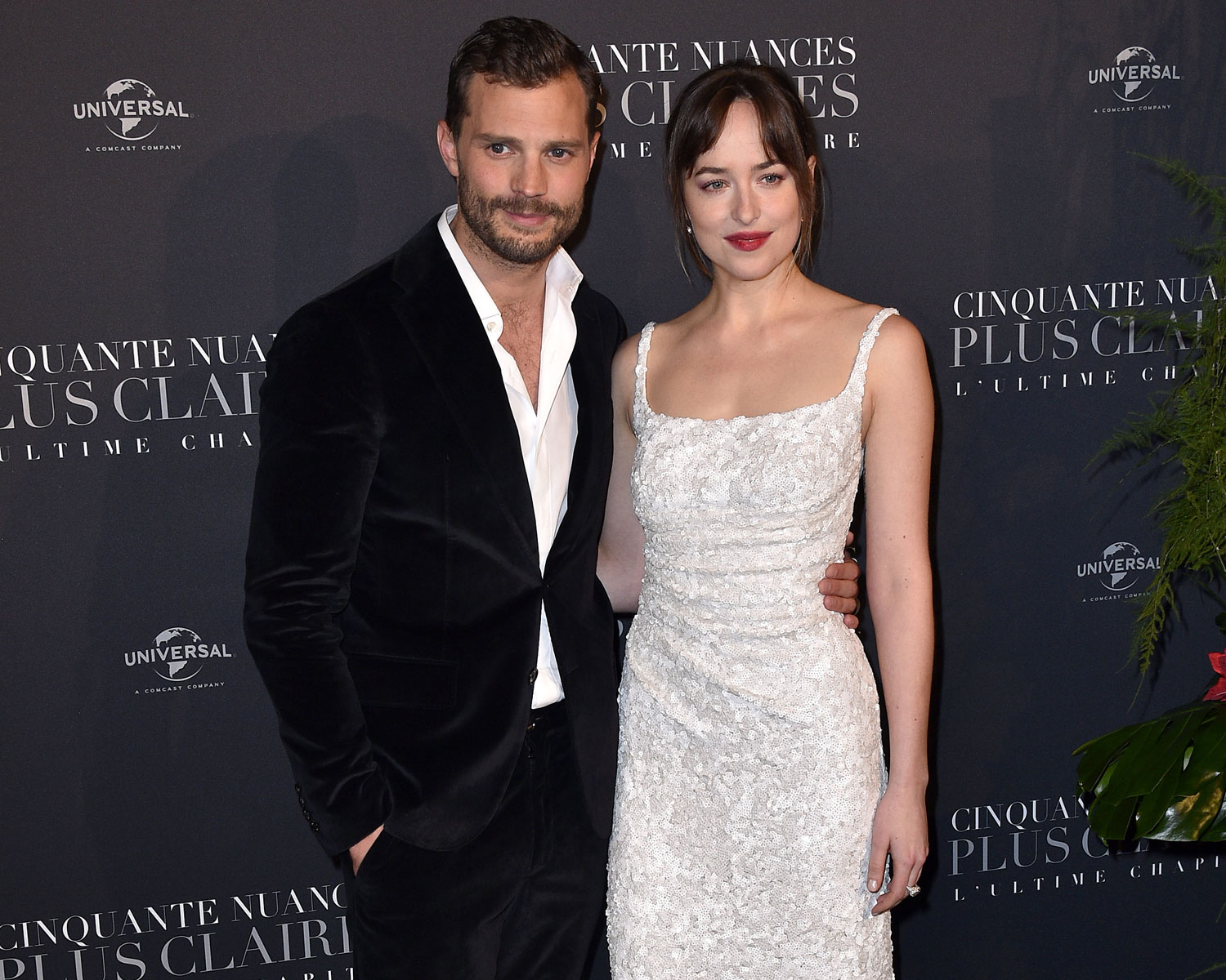 Dakota Johnson Wore A Bridal Inspired Look To Fifty