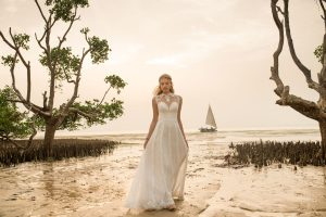 BHLDN Whispers Echoes collection brand wedding dress