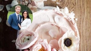 Prince Harry Meghan Markle wedding cake baker bakery photos