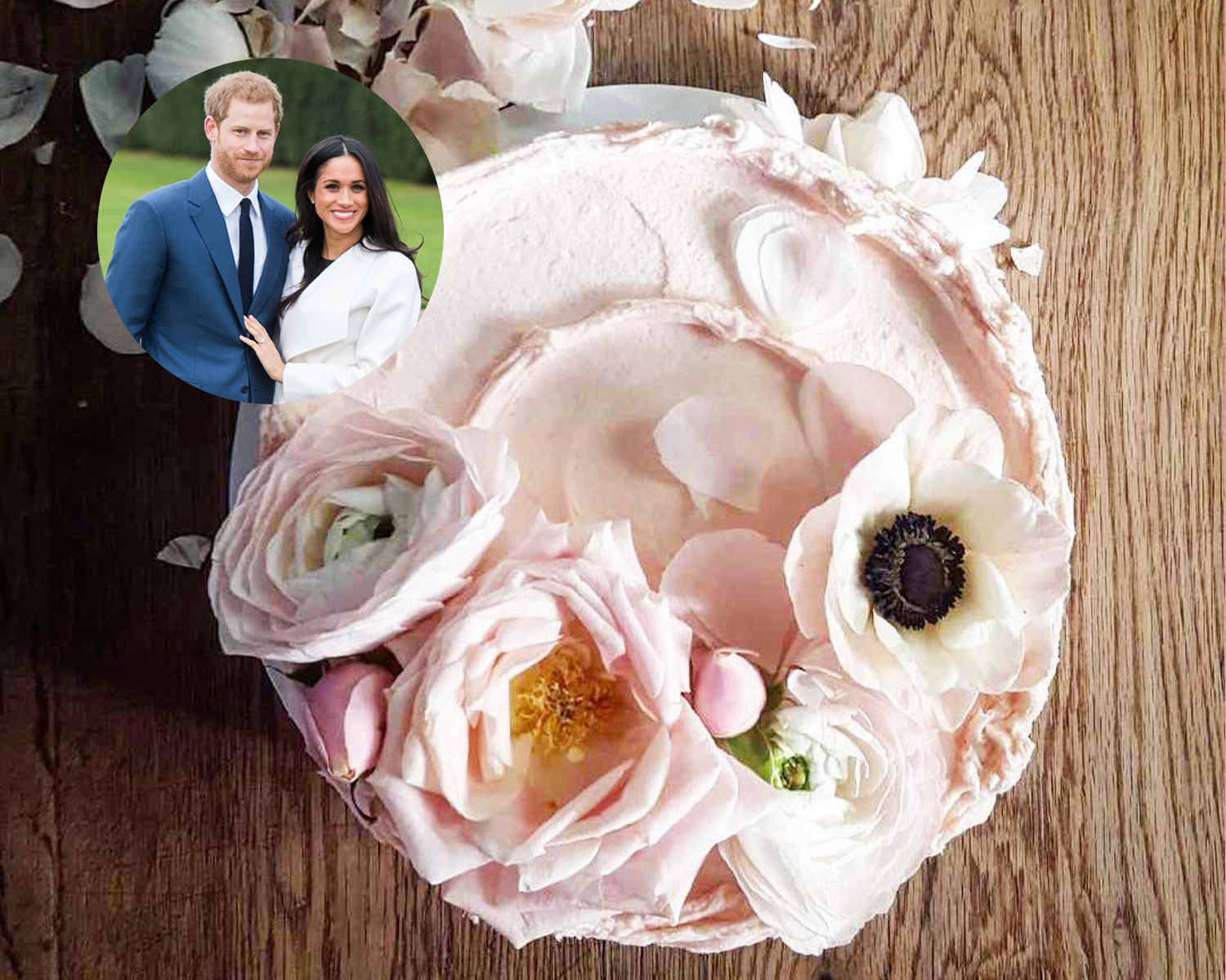 Prince Harry Meghan Markle wedding cake baker bakery photos