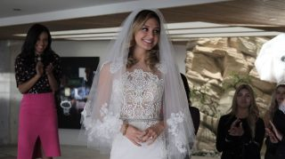 the arrangement wedding dress megan morrison
